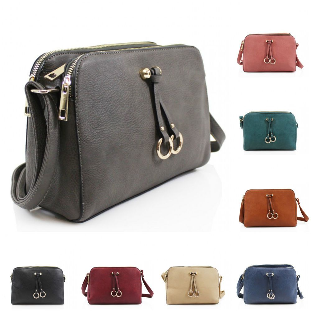 3de803df1b Ladies 170056 Double Ring Tassel Tripple Section Cross Body Women Messenger  Bag