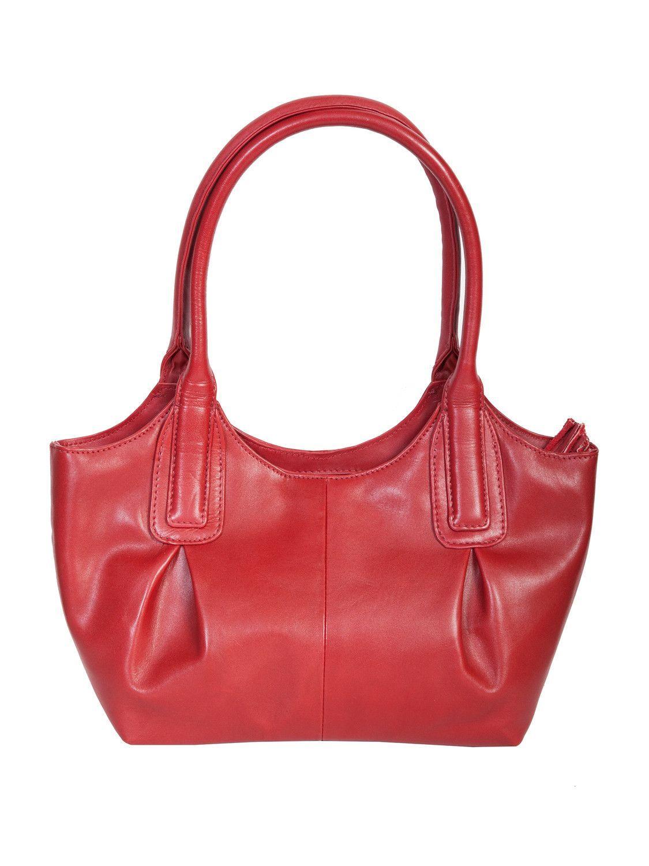 Scully Accessories Red Veg-Calf Hidesign Leather Satchel Handbag ... d052e076d303d