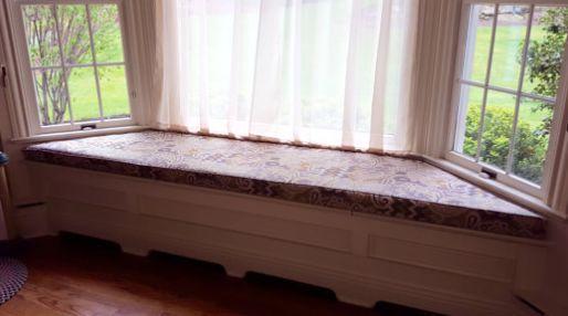 Custom Made Trapezoid Bench Seat Window Cushion For Bay Window