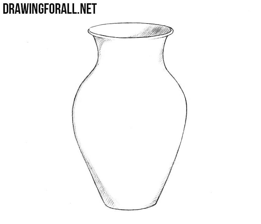 How To Draw A Vase Flower Vase Drawing Drawings Vase