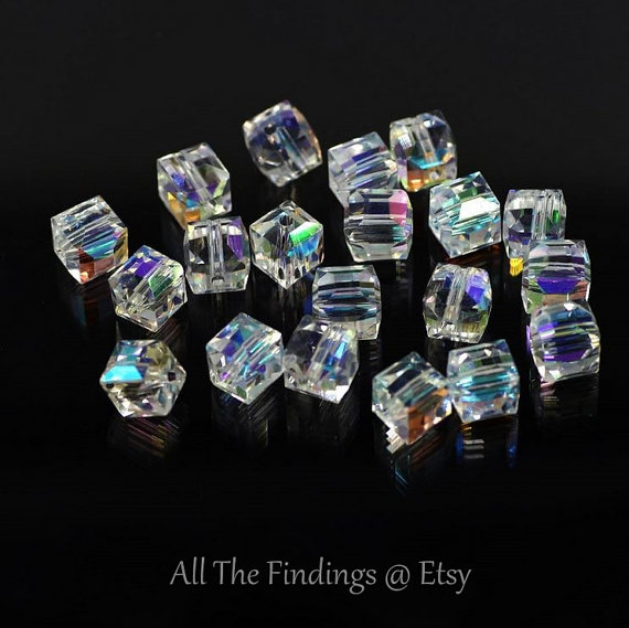 4bfa52d79102 Swarovski Crystal Glass Bead Wholesale Lot Cube Square 3mm x 3mm for  Jewelry Making Bead Curtains We