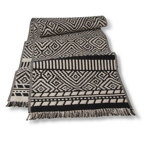 "Threshold™ Kilim Table Runner - Black (14""X72"") 