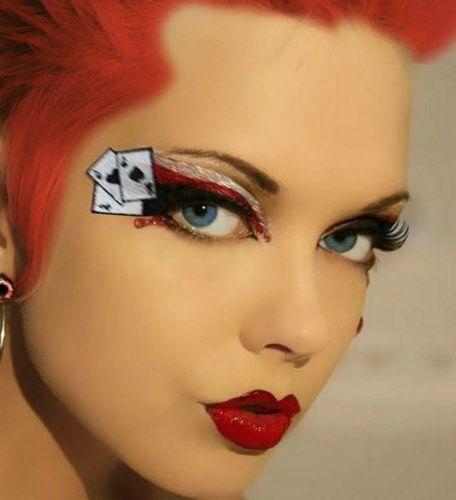 Amazing Halloween Makeup Ideas Fashionsy Com Amazing Halloween Makeup Queen Of Hearts Makeup Halloween Makeup Looks