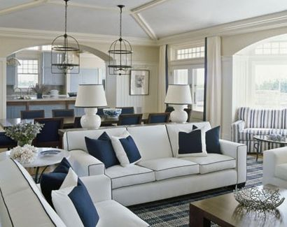 lake house family room - Preppy Home Decor