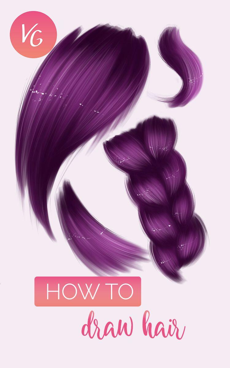 How To Draw Hair Digital Art Tutorial Digital Art Tutorial How To Draw Hair Digital Painting