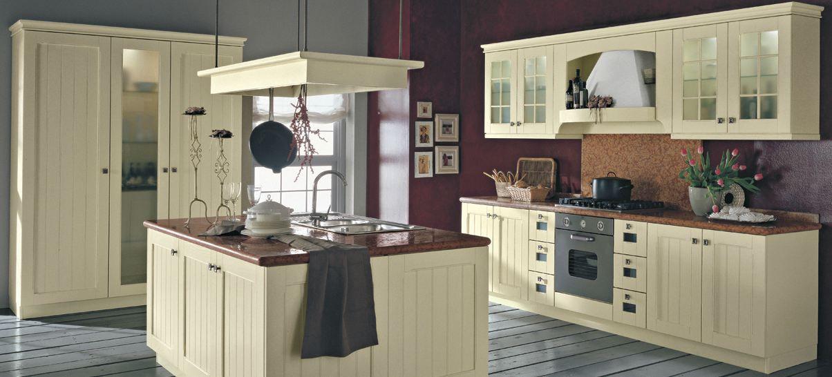 Rode landelijke keukens op pinterest - Keuken met rode baksteen ...