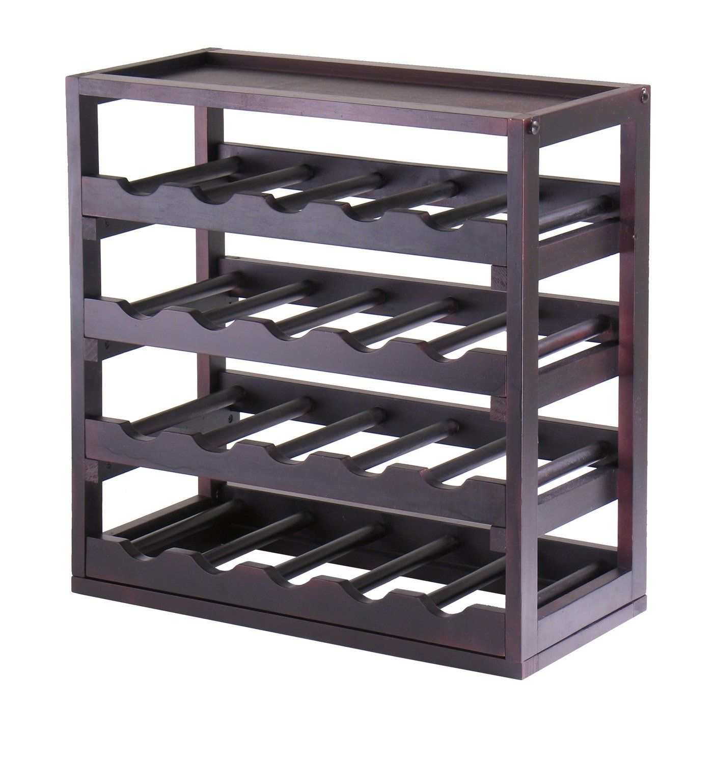 Amazon.com   Winsome Wood Kingston Removable Tray Wine Storage Cube   Free  Standing Wine Design Inspirations