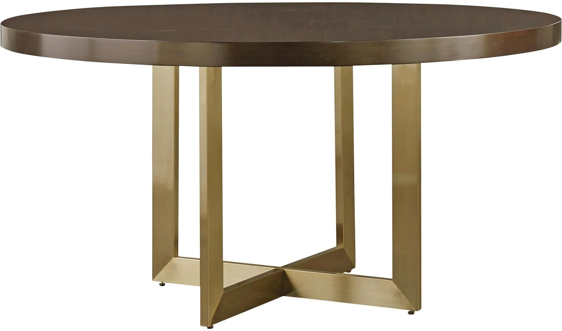 Gibson Brown And Gold Round Dining Table From Universal Coleman