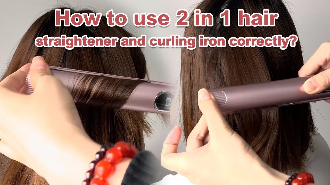 How To Use 2 In 1 Hair Flat Iron Correctly Pink Hair Straightener Ha Hair Straightener Flat Iron Hair Styles Hair Curlers