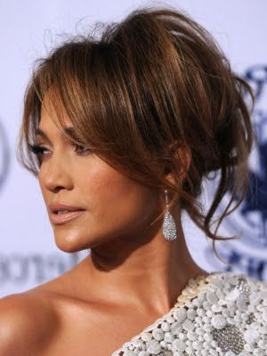 Celebrity Bedhead Updo Hairstyles Fashion Shows Jennifer Lopez Hair Messy Hair Updo Jlo Hair