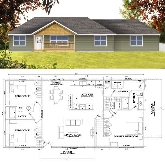 Brentwood Modular Home Plan For Wardcraft Homes. Basic