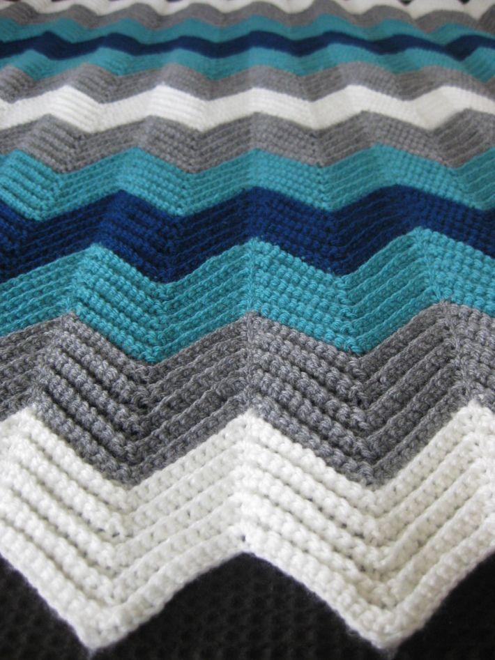Chevron Afghan 1 Blankets And Afghans Crochet Crochet