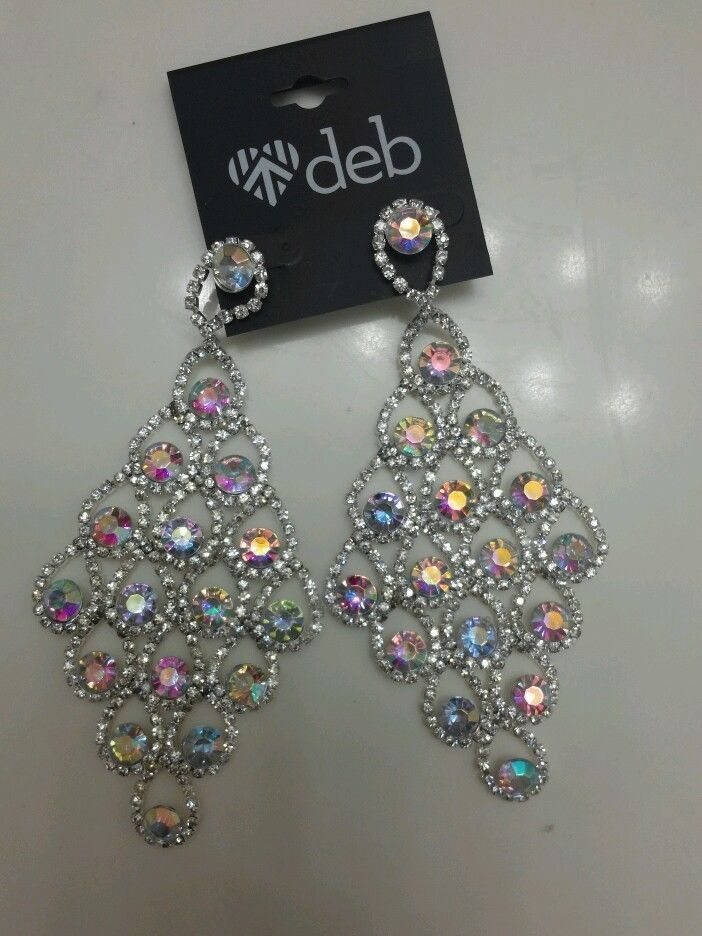 Prom Earrings Special Occasion Ab Crystal Multi Color Chandelier