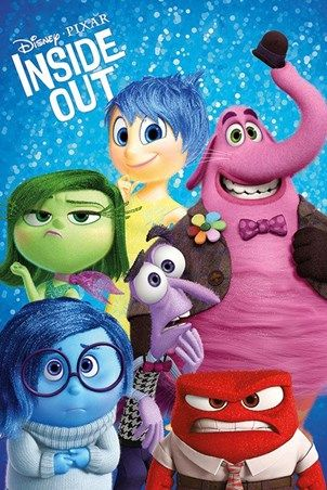 Joy Sadness Disgust Fear Anger Bing Bong Disney Pixar S Inside Out Poster 91 5cm X 61cm Buy O Inside Out Characters Disney Pixar Movies Disney Pixar