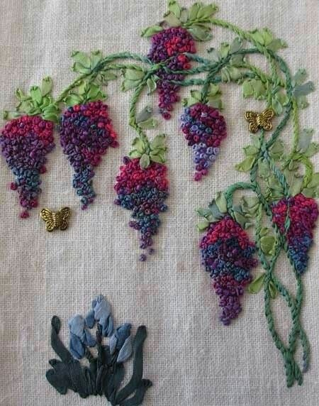 Pin By On Pinterest Embroidery Ribbon