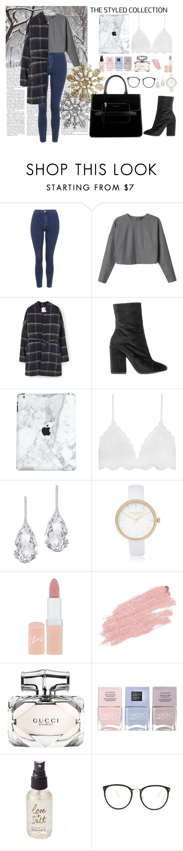 """""""Untitled #63"""" by meredithwelch ❤ liked on Polyvore featuring Topshop, Monki, MANGO, Dries Van Noten, Serendipity, Plukka, River Island, Rimmel, Jane Iredale and Gucci"""