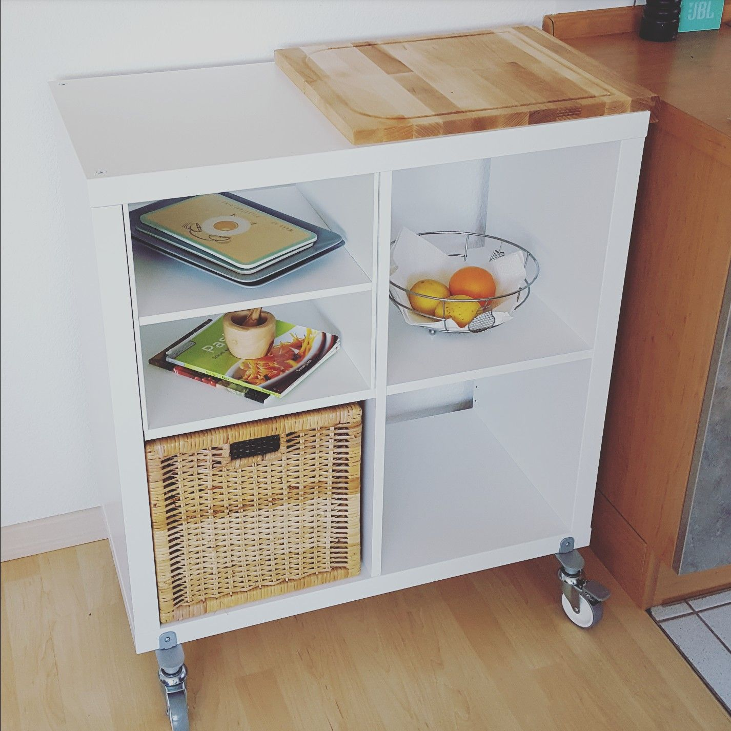 Ikea Küche Wagen Ikea Hack Kallax As A Kitchen Food Cart Ikea Ikeahack