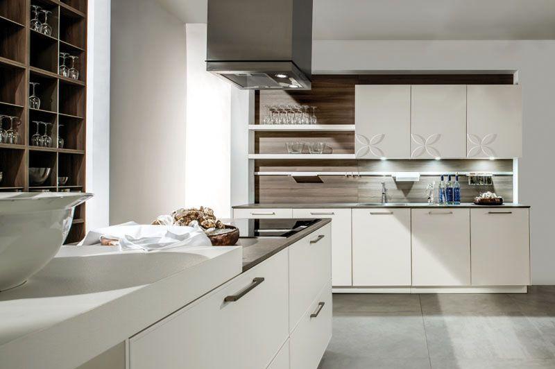 5020 7050 - Häcker Küchen Bianco laccato opaco Frontale con - häcker küchen ausstellung