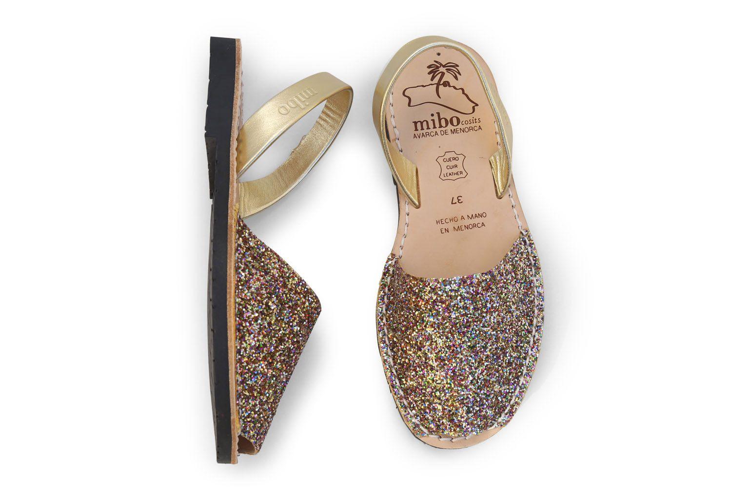 0c61e90b9 Mibo Avarcas Multi Glitter Menorcan Sandals