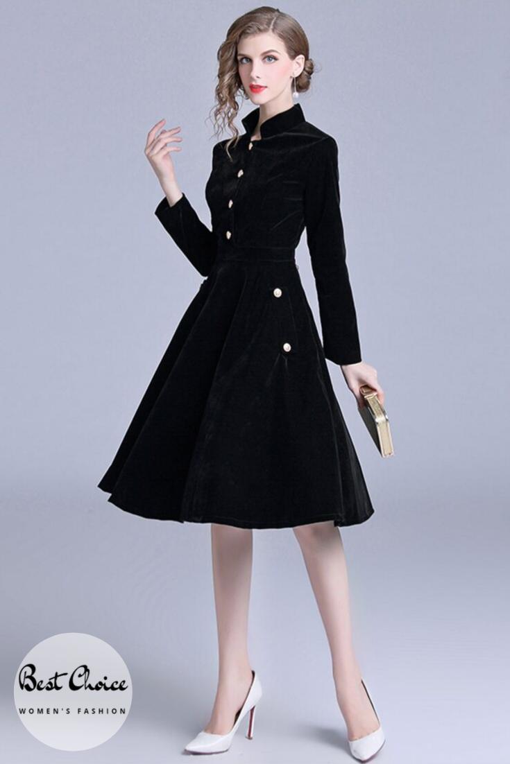 Vintage Black Velvet Dress Vintage Black Dress Vintage Dresses Velvet Party Dress [ 1102 x 735 Pixel ]