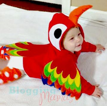 DIY Parrot Costume- how cute is this??