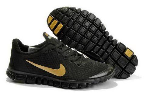 wholesale outlet many fashionable 100% high quality Nike Free 3.0 V2 Black Gold Running Shoes | Nike free shoes, Black ...