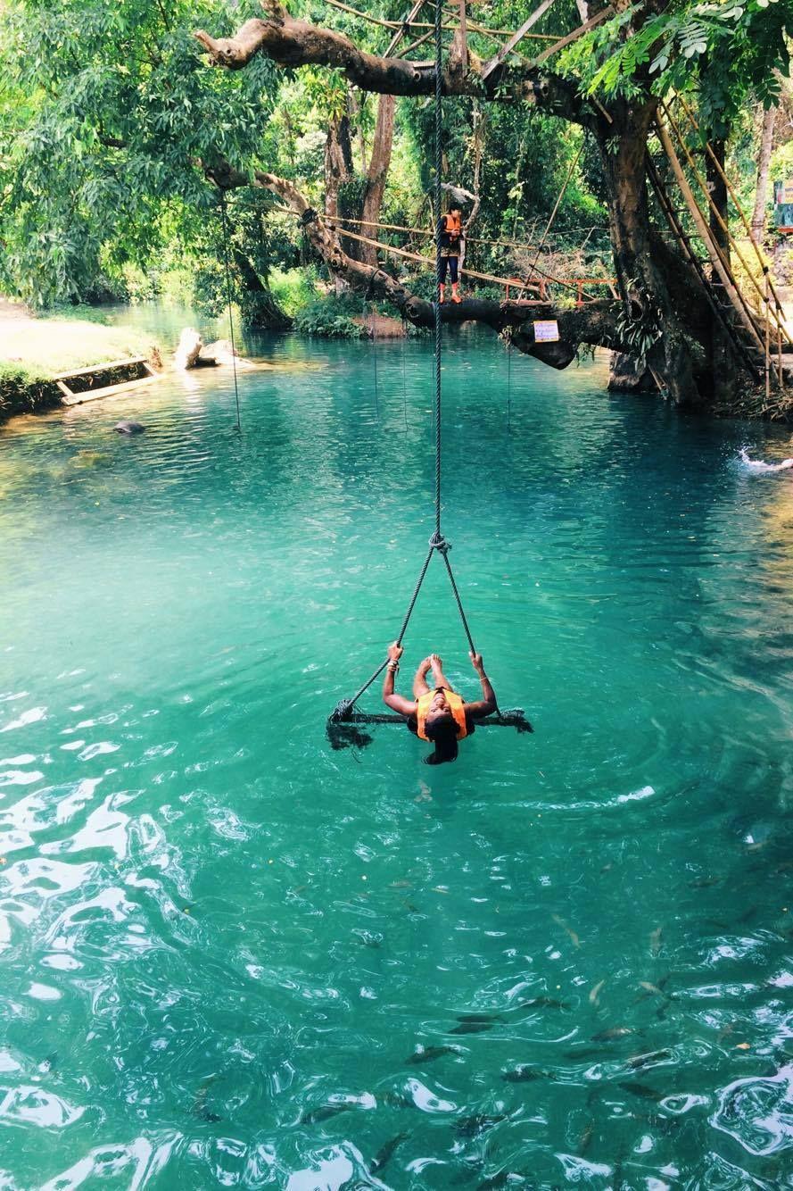 Blue Lagoon Vang Vieng Laos Laos Travel Blue Lagoon