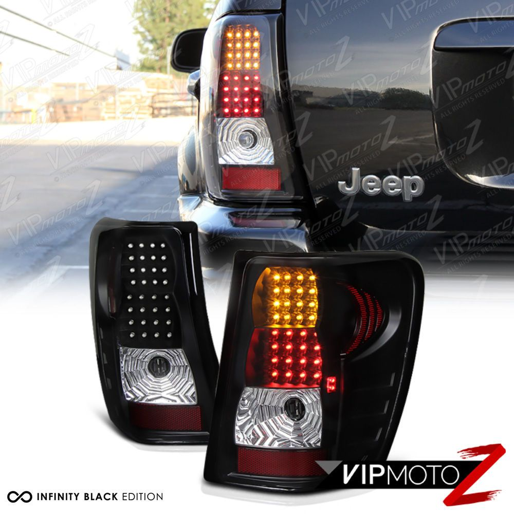 Details about For 9904 Jeep Grand Cherokee WJ Black LED