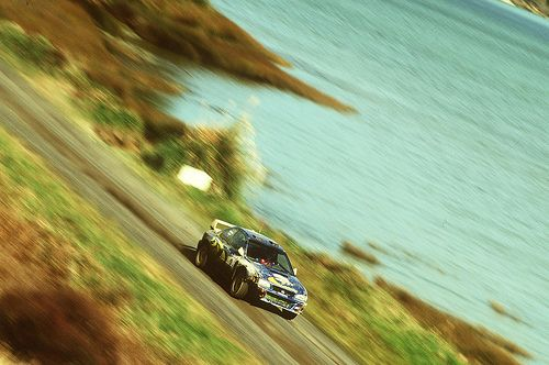 Subaru Impreza WRC98 of Colin McRae at 1998 Rally New Zealand
