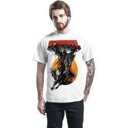 Photo of Deadpool Riding High Herren-T-Shirt – weiß – Offizieller & Lizenzierter Fanartikel
