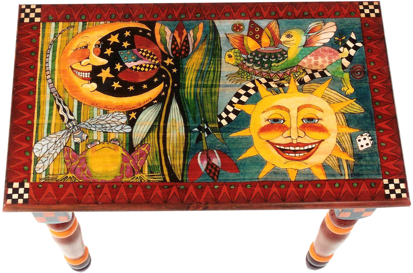 By Helen Heins Peterson Whimsical Painted Furniture Modern Folk