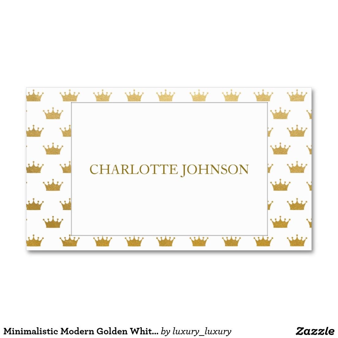 Minimalistic Modern Golden White Vip Business Card