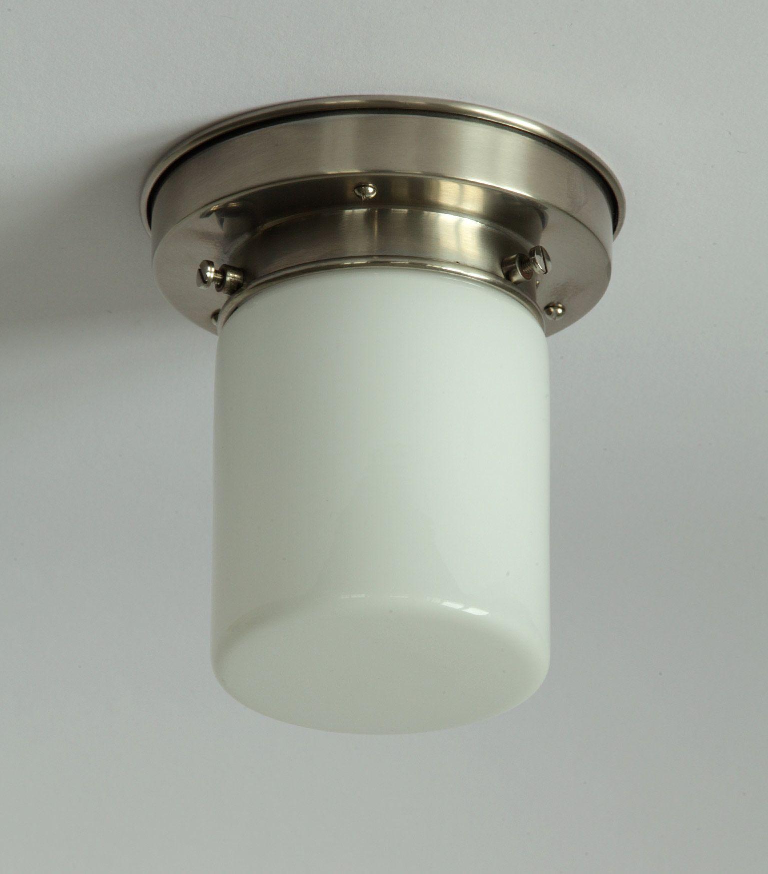 Sehr Kleine Deckenleuchte Mit Zylinder Opalglas O 9 Cm Von Collectie Art Deco Art Deco Badezimmer Badezimmer Licht Glaskugel