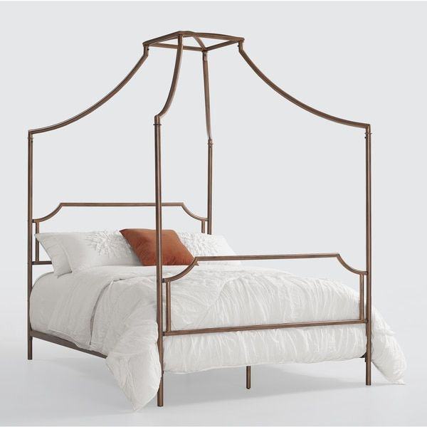 Bailey Brushed Copper Full-size Canopy Bed (Bailey Brushed Copper Full Size Canopy Bed) Brown  sc 1 st  Pinterest & Bailey Brushed Copper Full-size Canopy Bed (Bailey Brushed Copper ...