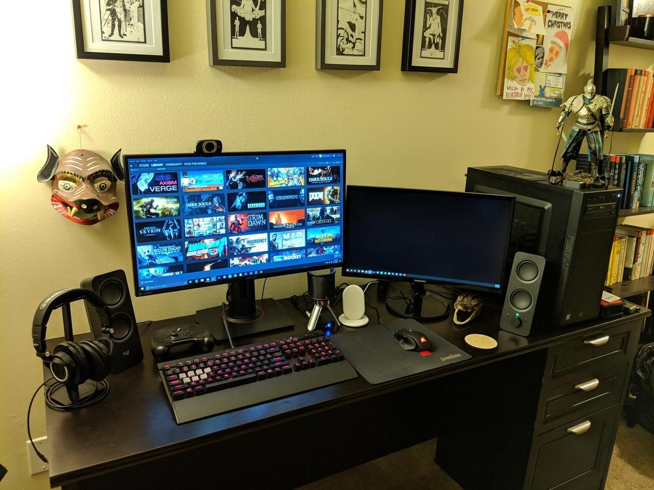 Finally made the price jump to 144hz room setup