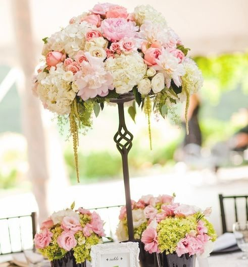 Pink Wedding Centerpiece Ideas: Pink Reception Wedding Flowers, Wedding Decor, Pink