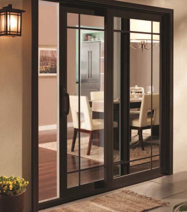 Pella 350 Series Vinyl Sliding Glass Patio Doors Feature A Beautiful, Yet  Substantial Frame Design With More Energy Efficient Triple Pane Glass.