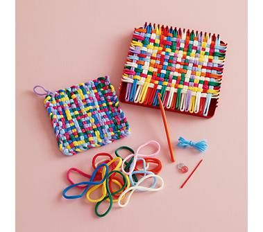 Homemade potholders...ever make them when you were a kid?