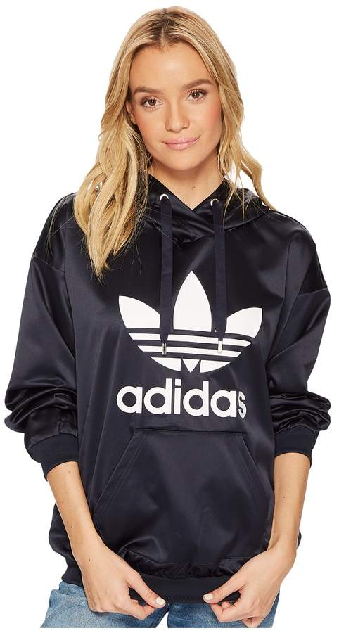 Sleeve In Adidas Trefoil Hoodie Women's Pullover Products Long SawIATq0w