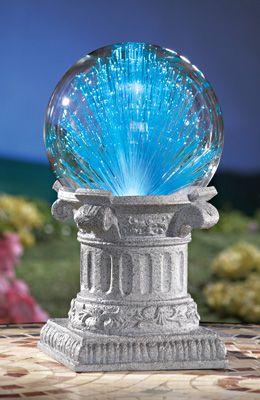 Solar Fiber Optic Gazing Ball Garden Decoration  Heavenly