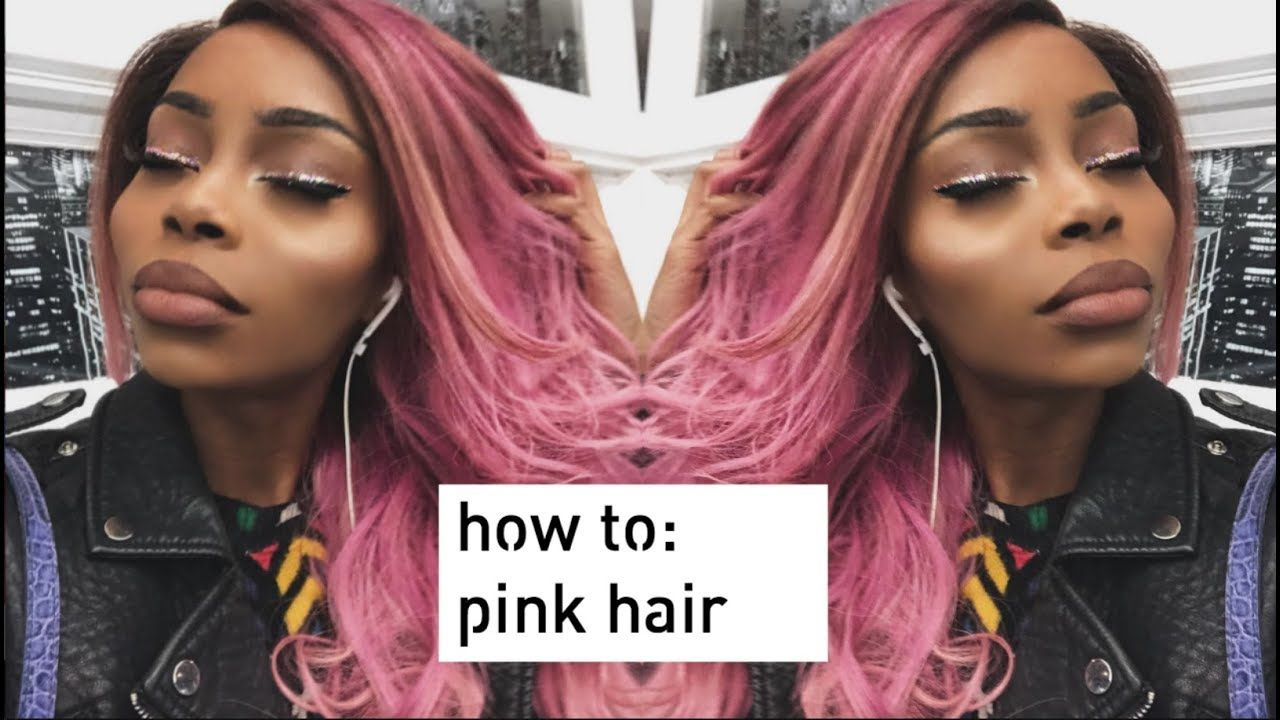 Pink hair dye fail u bleach bath ft wow ebony video show from