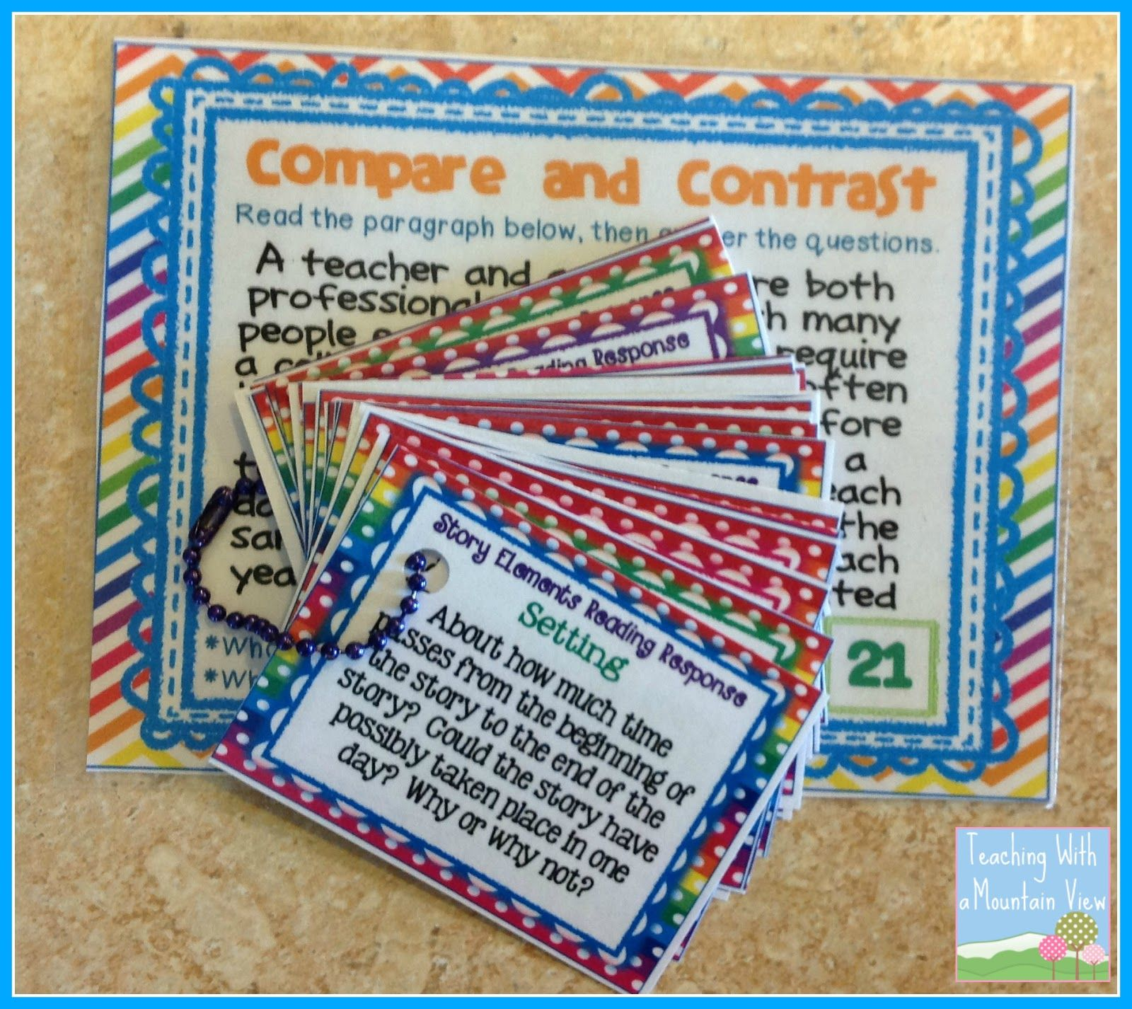 Using Task Cards For Reading Response
