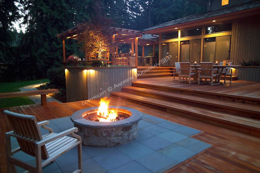 A 1700 square foot, 2-level deck, outdoor kitchen, and ... on 2 Level Backyard Ideas id=61098