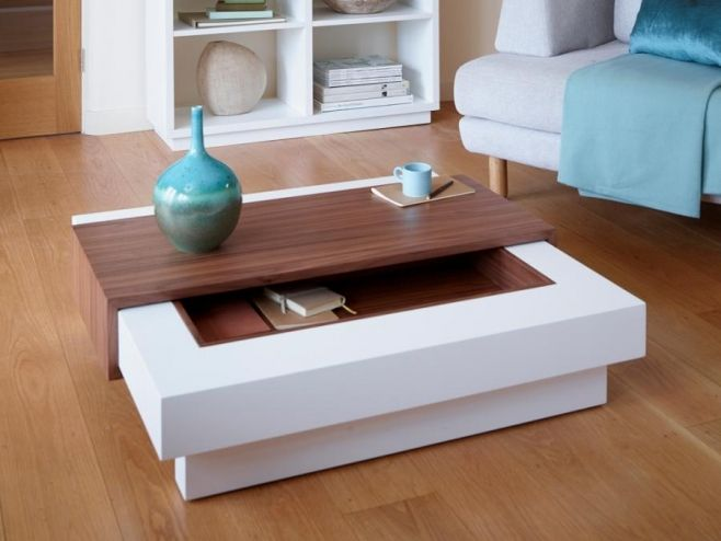 Contemporary Gillmore Space Marlow Stone or White Coffee Table