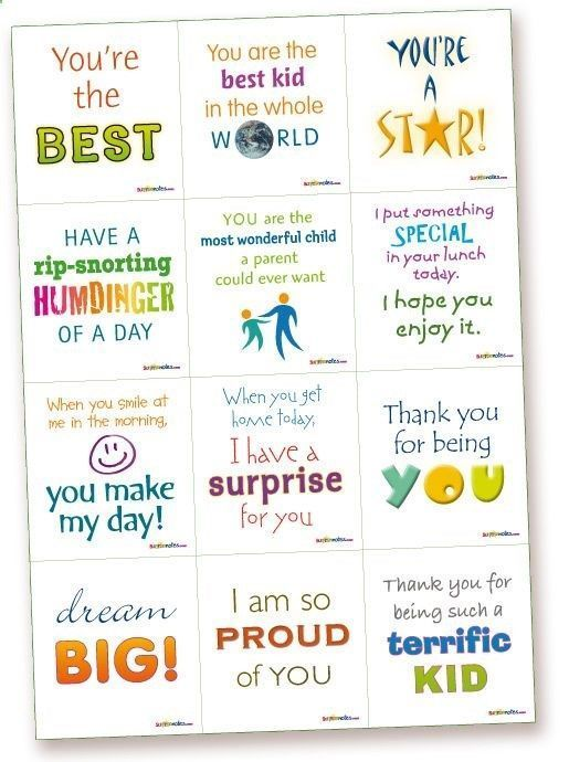 Lunchbox 1 - Kids Lunchbox - Surprise Notes printable lunch box ...