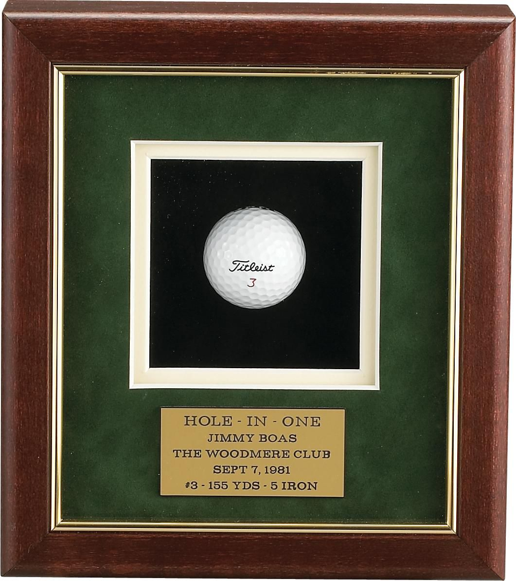 Simple Hole In One Display Give Sports Memorabilia Display Golf Shop Golf Trophies