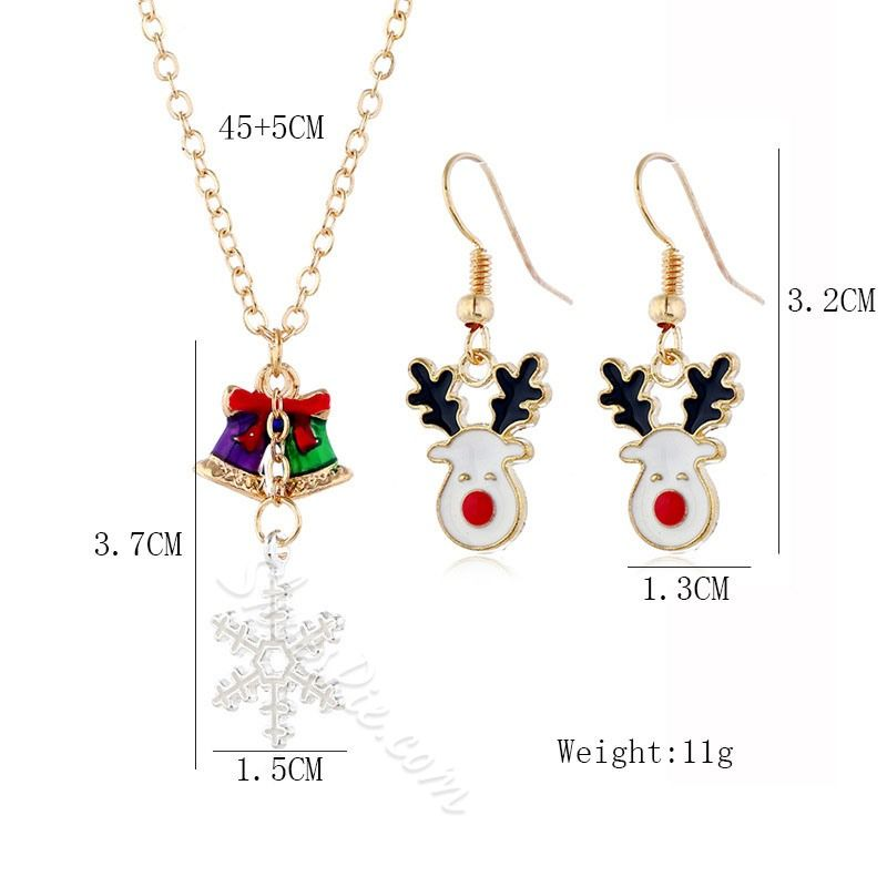 European Christmas Ads 2020 Oil Drip Necklace European Christmas Jewelry Sets #AD #Necklace