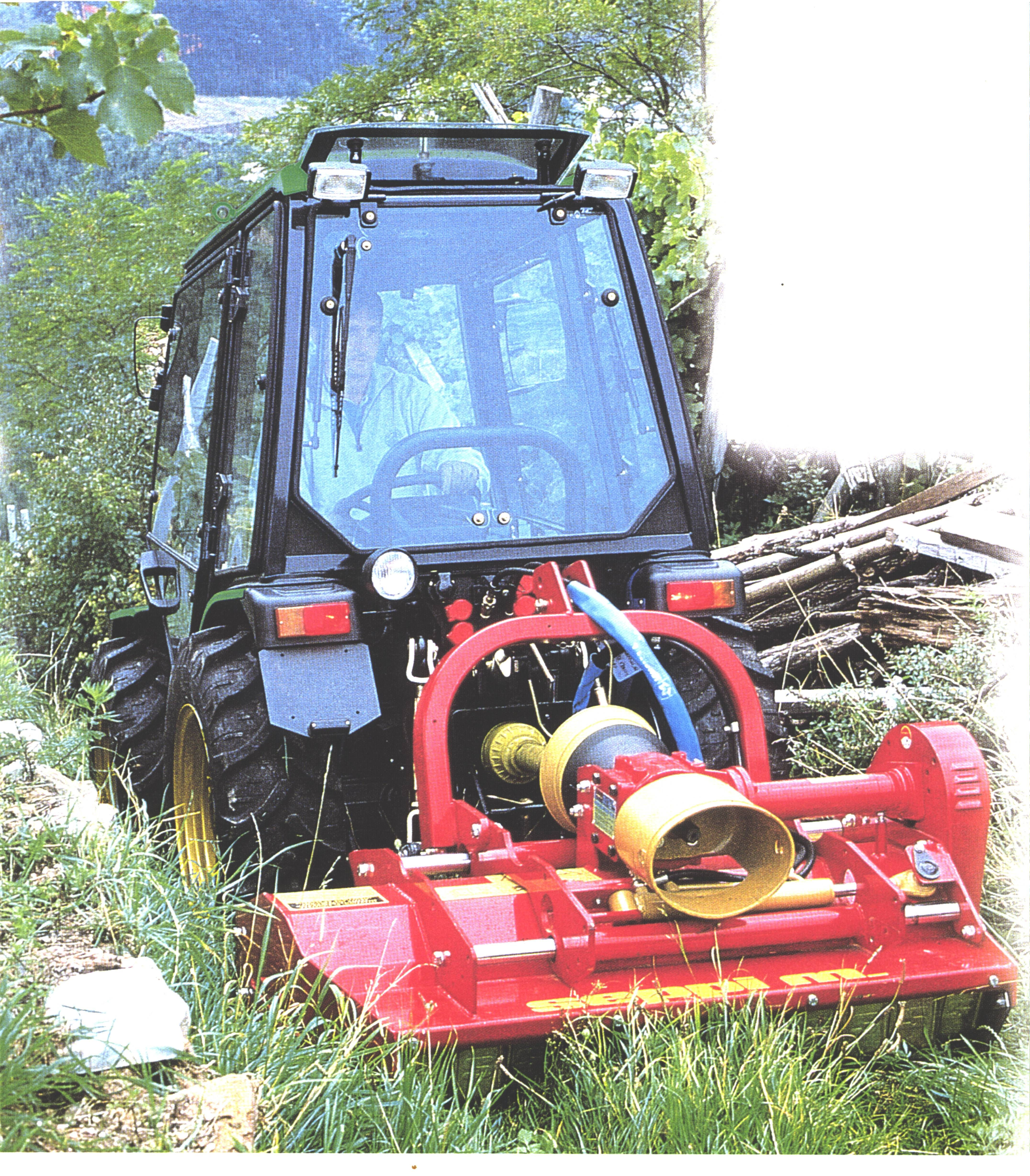 This flail mower is setup for front or rear mount and has