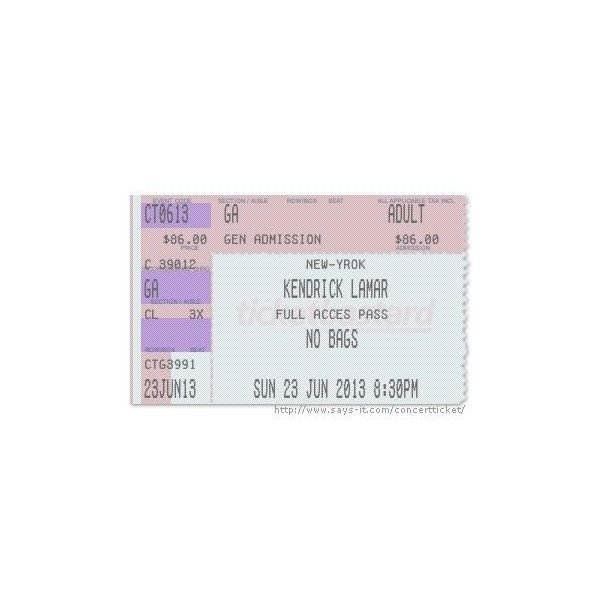 Concert Ticket Maker ❤ liked on Polyvore featuring home and kitchen