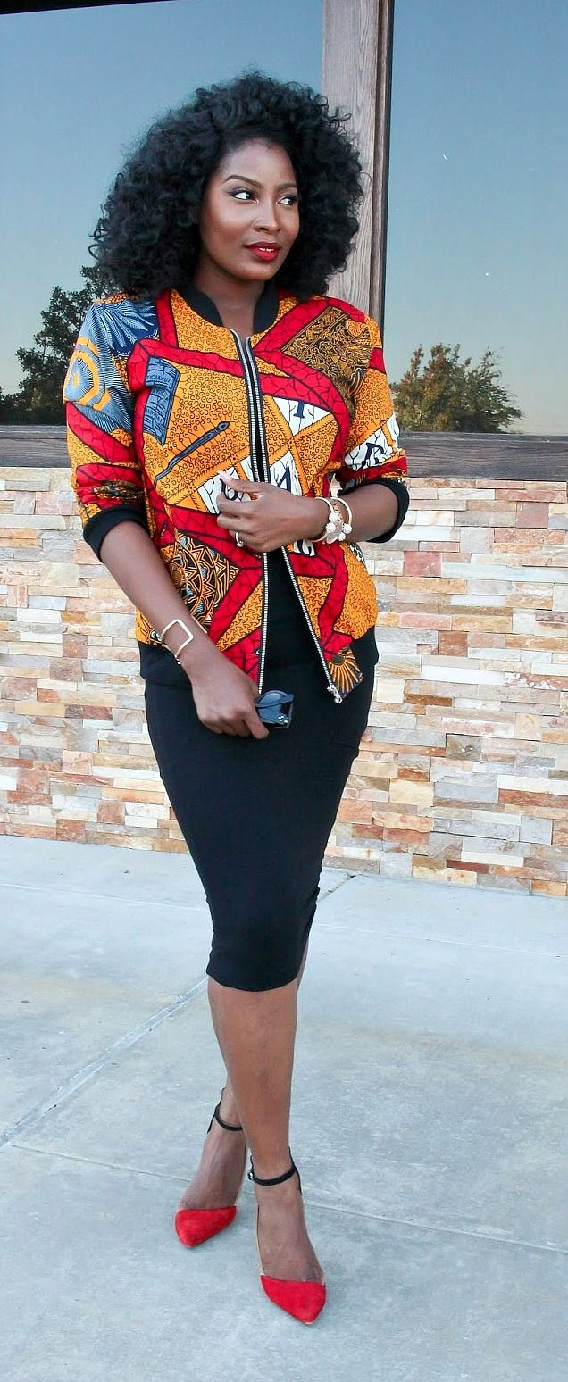 b26d6a66d9dcc 20+ trendy Ankara jackets   Be the talk of the town in super stylish  African print clothing  Check out this post for over 20 trendy Ankara print  jackets ...